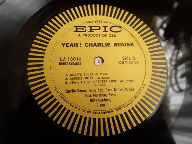 美盤:US Epic mono dg YEAH / CHARLIE ROUSE_画像5