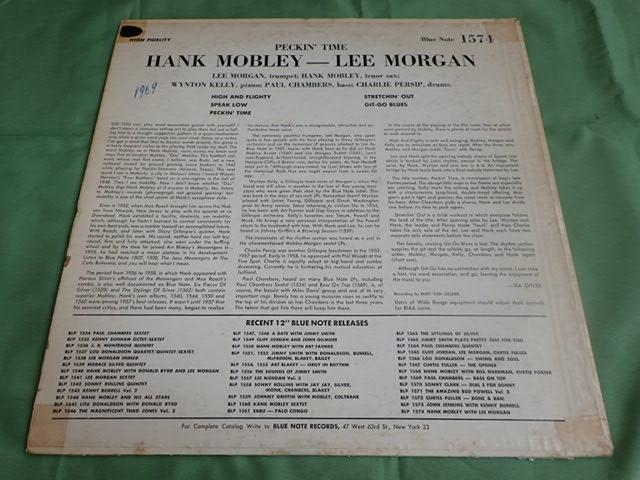 US Blue Note 47W63rd dg rvg ear PECKIN' TIME / HANK MOBLEY_画像2