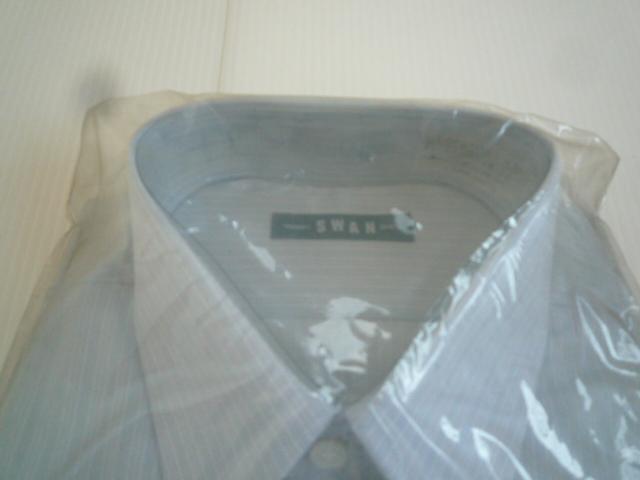 【お得!!】◆ワイシャツ2点セット◆ SWAN 青系 白 A形38 セット品 メンズ_画像3
