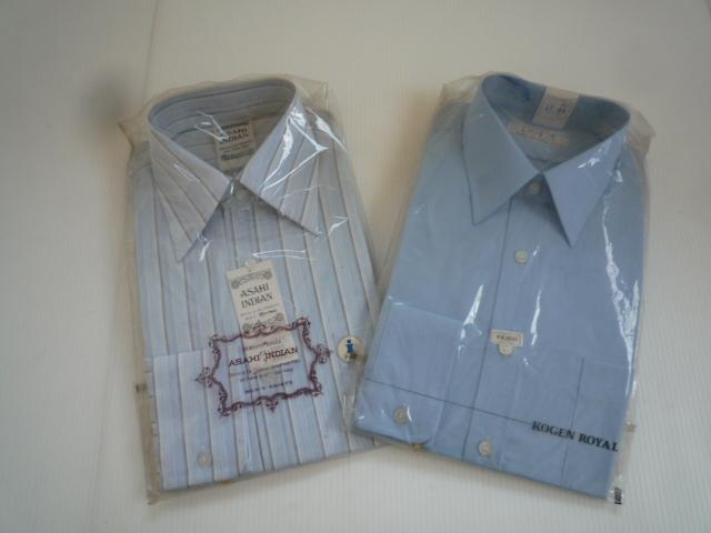 【お得!!】◆ワイシャツ2点セット◆ ASAHIINDIAN RAMUZE 無地 柄 37-76 37-80 セット品 メンズ