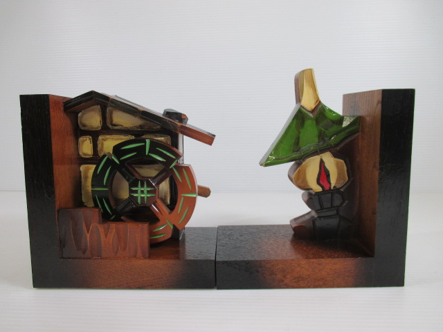【珍しい!】★PRINCE/プリンス★オルゴール/水車&ランプ 木彫り 木製 ♪禁じられた遊び