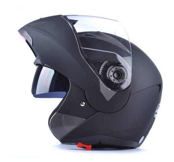 フリップアップ バイク ダブルレンズ フルフェイスヘルメット ダブルシールド ジェットヘルメット 内蔵サングラス M L XL XXL サイズ 03