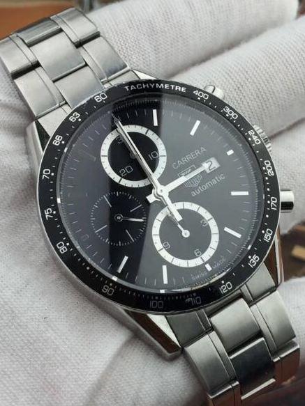 中古品 タグホイヤー カレラ タキメータークロノ CV2010.BA0794 メンズ 腕時計 自動巻