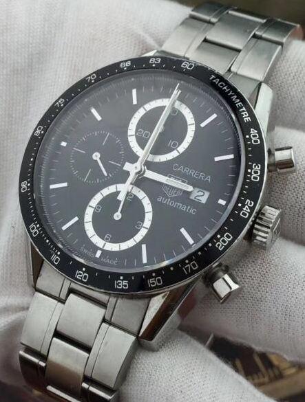 中古品 タグホイヤー カレラ タキメータークロノ CV2010.BA0794 メンズ 腕時計 自動巻_画像2