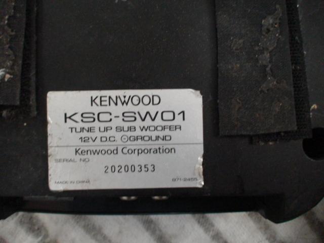 KENWOOD チューンナップサブウーハー KSC-SW01 リモコン付_画像2