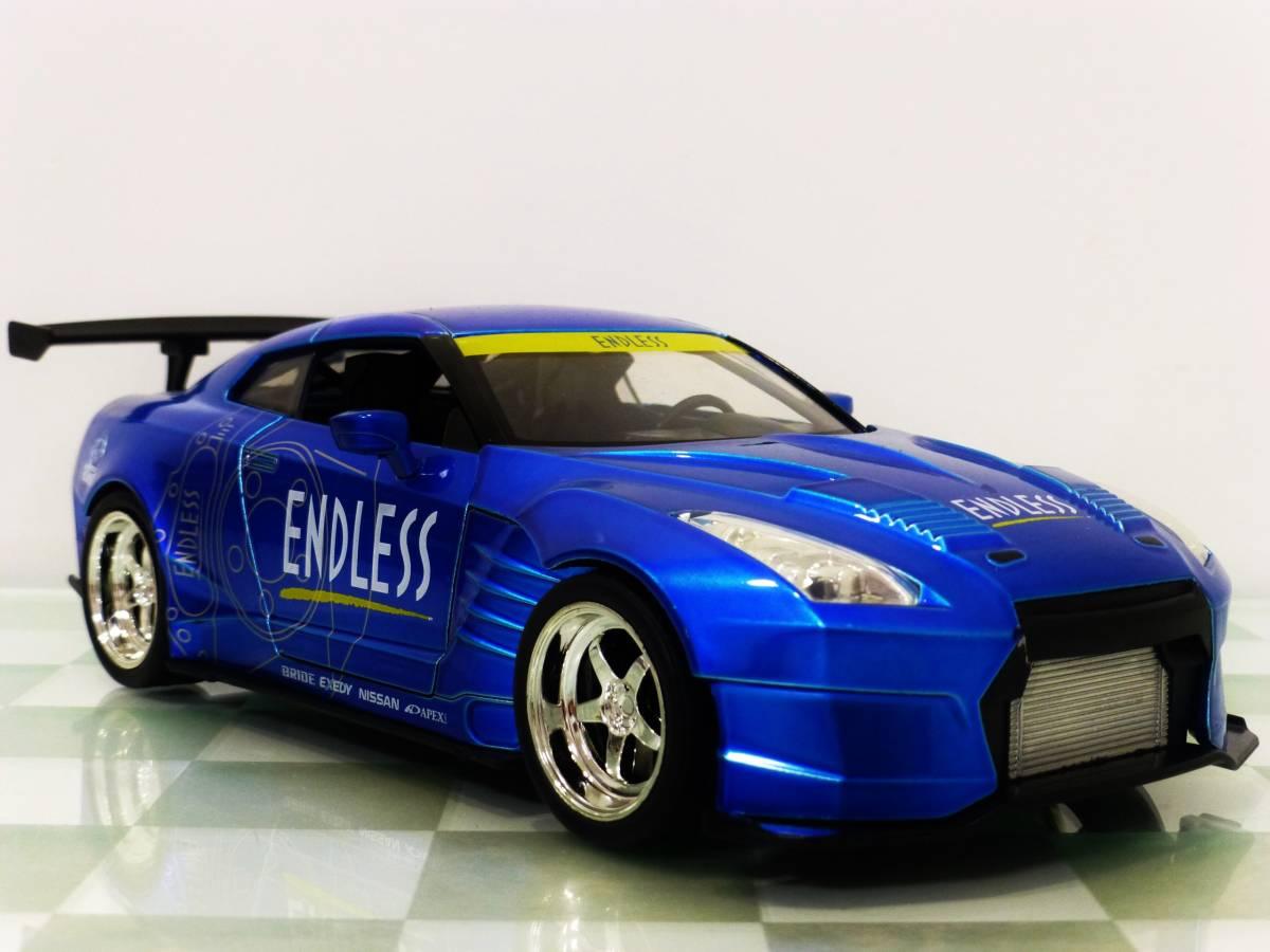 ■JADA 1/24 2009 NISSAN GT-R (R35) BEN SOPRA BLUE■99_画像1