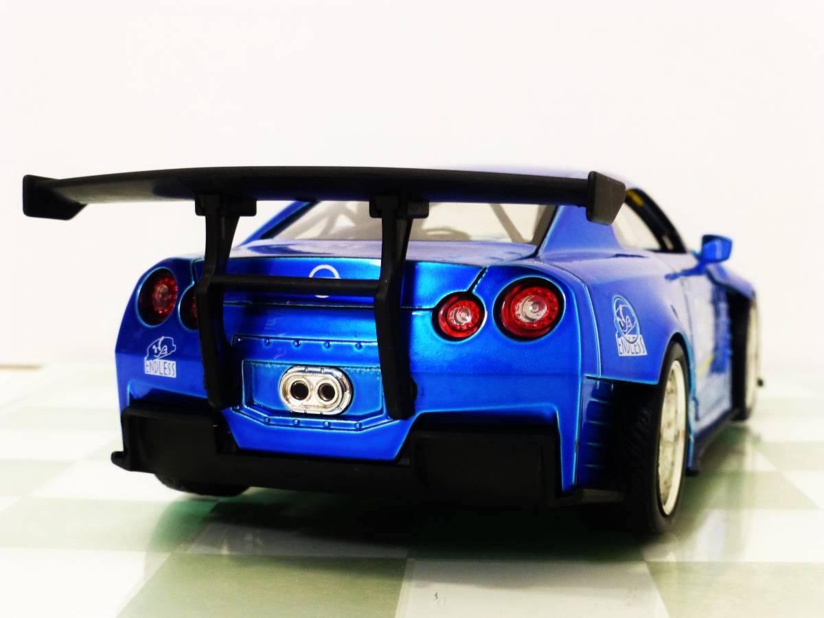 ■JADA 1/24 2009 NISSAN GT-R (R35) BEN SOPRA BLUE■99_画像5