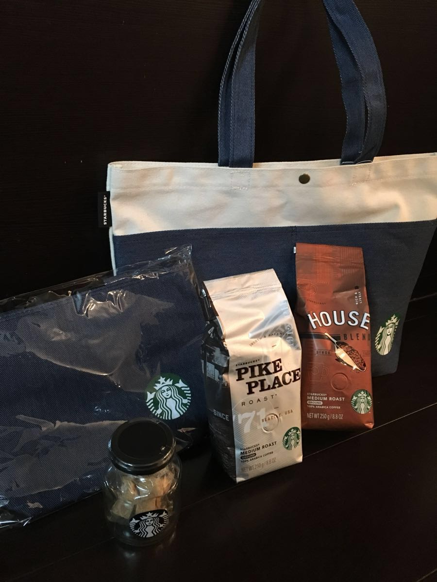新品 2018 スターバックス 福袋 トートバック 保冷バック コーヒー 砂糖