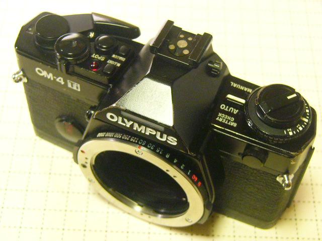 OLYMPUS オリンパス OM-4 Ti ブラックモデル (動作・美品) チタンモデル/ジャンク扱い_画像2