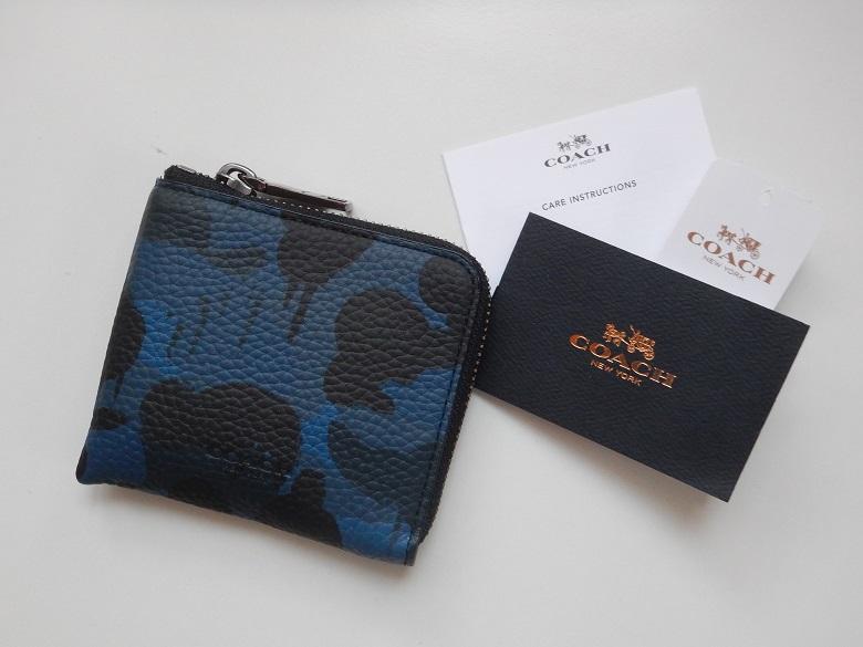 new products ade47 04818 COACH コーチ メンズ 財布 コインケース カードケース レザー ジップ 小銭入れ 迷彩 カモフラ BASEMAN WILD BEAST 新品