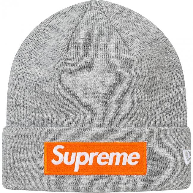 シュプリーム ニット帽 ボックスロゴ Supreme New Era box logo Beanie ニューエラ ビーニー グレー 灰 17AW FW 新作 新品未使用