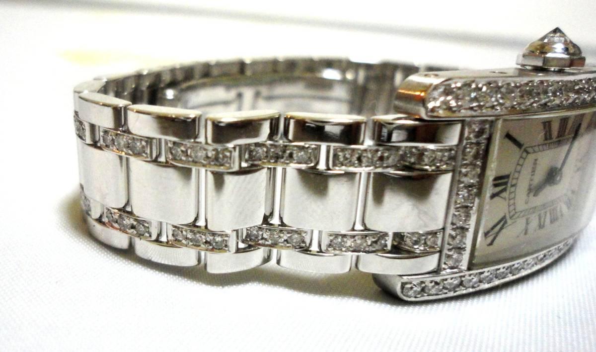 Cartier カルティエ WG タンクアメリカンMM ベゼル アフターダイヤ加工します カスタム WB7045MP W1506056 K18YG WB520027 K18 WB520010_画像2