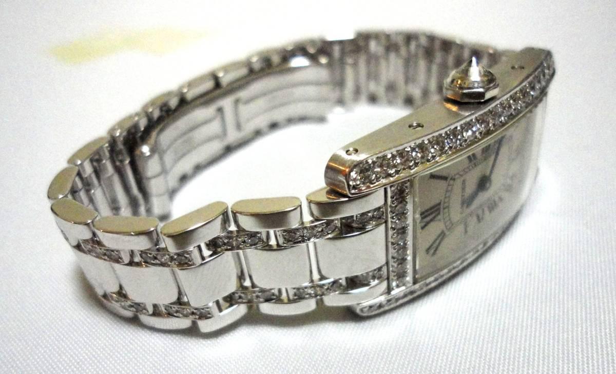 Cartier カルティエ WG タンクアメリカンMM ベゼル アフターダイヤ加工します カスタム WB7045MP W1506056 K18YG WB520027 K18 WB520010_画像1
