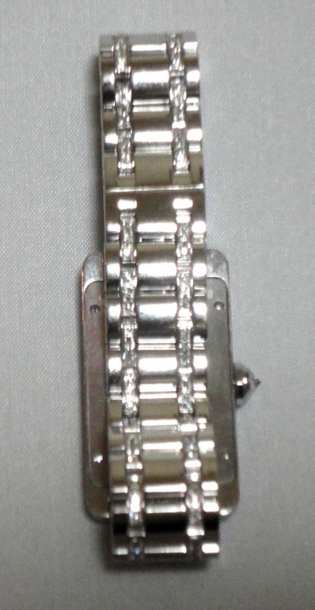 Cartier カルティエ WG タンクアメリカンMM ベゼル アフターダイヤ加工します カスタム WB7045MP W1506056 K18YG WB520027 K18 WB520010_画像10