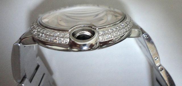 Cartier カルティエ バロンブルー LM ケース アフターダイヤ加工しますカスタムWG MM YG W69012Z4 6901351 69012Z4 SS×PG/6920032 SBB0003_画像8