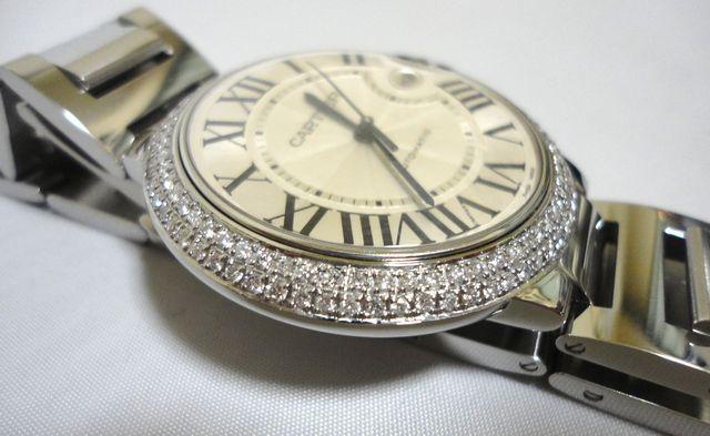 Cartier カルティエ バロンブルー LM ケース アフターダイヤ加工しますカスタムWG MM YG W69012Z4 6901351 69012Z4 SS×PG/6920032 SBB0003_画像5