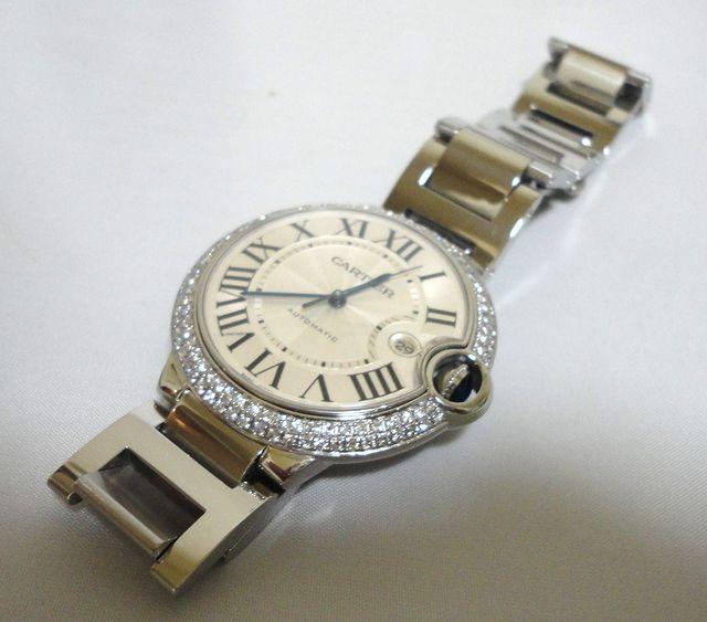 Cartier カルティエ バロンブルー LM ケース アフターダイヤ加工しますカスタムWG MM YG W69012Z4 6901351 69012Z4 SS×PG/6920032 SBB0003_画像6