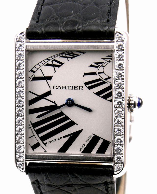 Cartier カルティエ タンクソロ LM ケース アフターダイヤ加工します カスタム アニメーション文字盤 W5200017 サントス タンクアメリカン_画像5