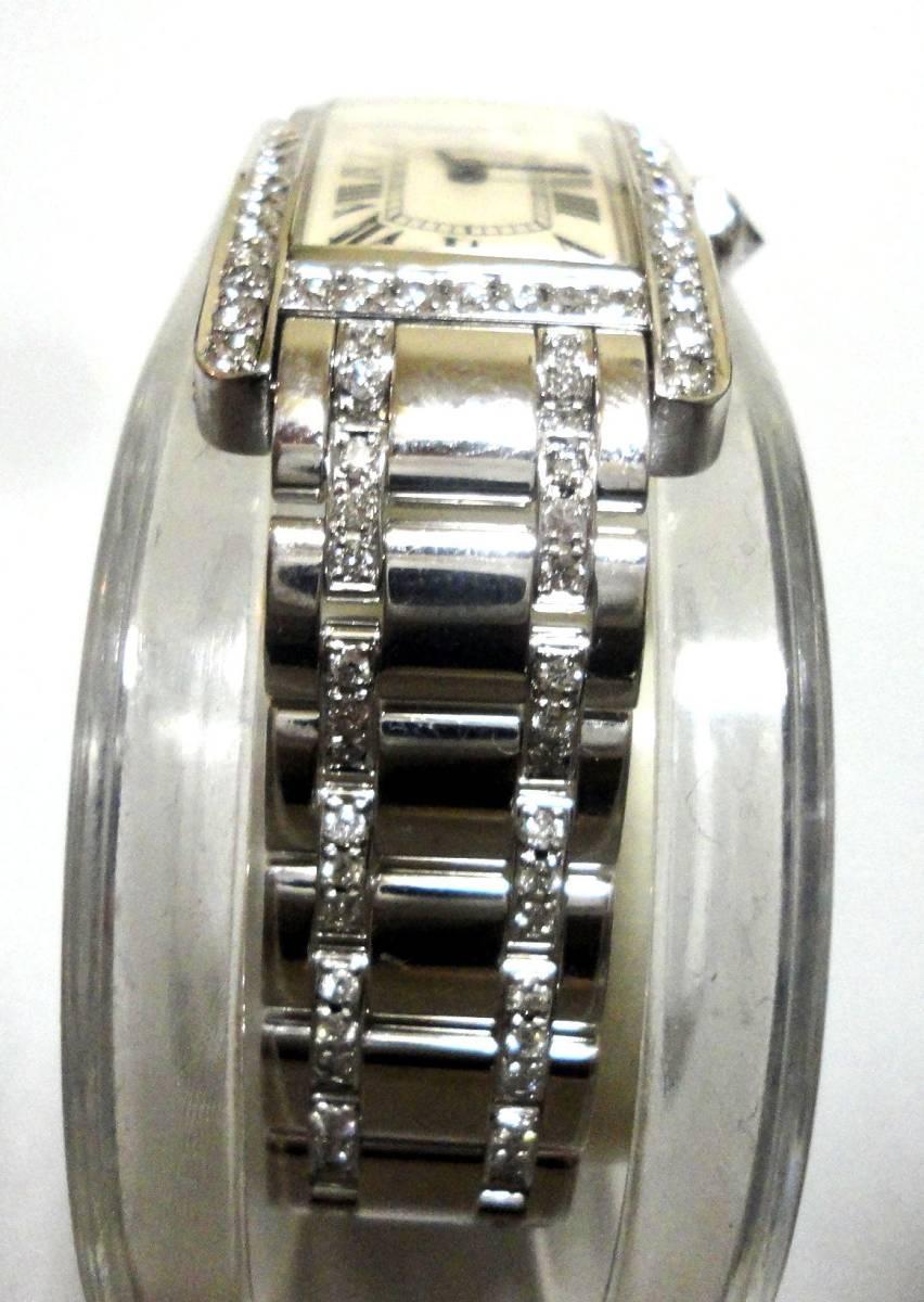 Cartier カルティエ WG タンクアメリカンMM ベゼル アフターダイヤ加工します カスタム WB7045MP W1506056 K18YG WB520027 K18 WB520010_画像7