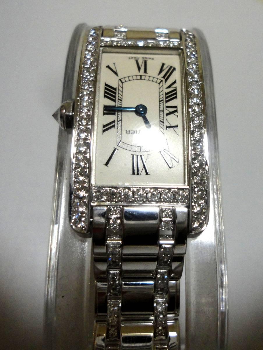 Cartier カルティエ WG タンクアメリカンMM ベゼル アフターダイヤ加工します カスタム WB7045MP W1506056 K18YG WB520027 K18 WB520010_画像5