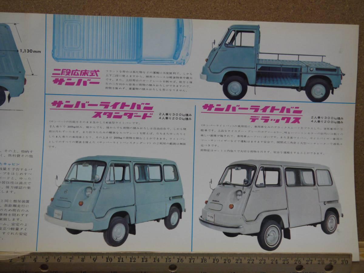 ≪旧車カタログ≫01627 スバル サンバー 新幹線砂利道_画像3