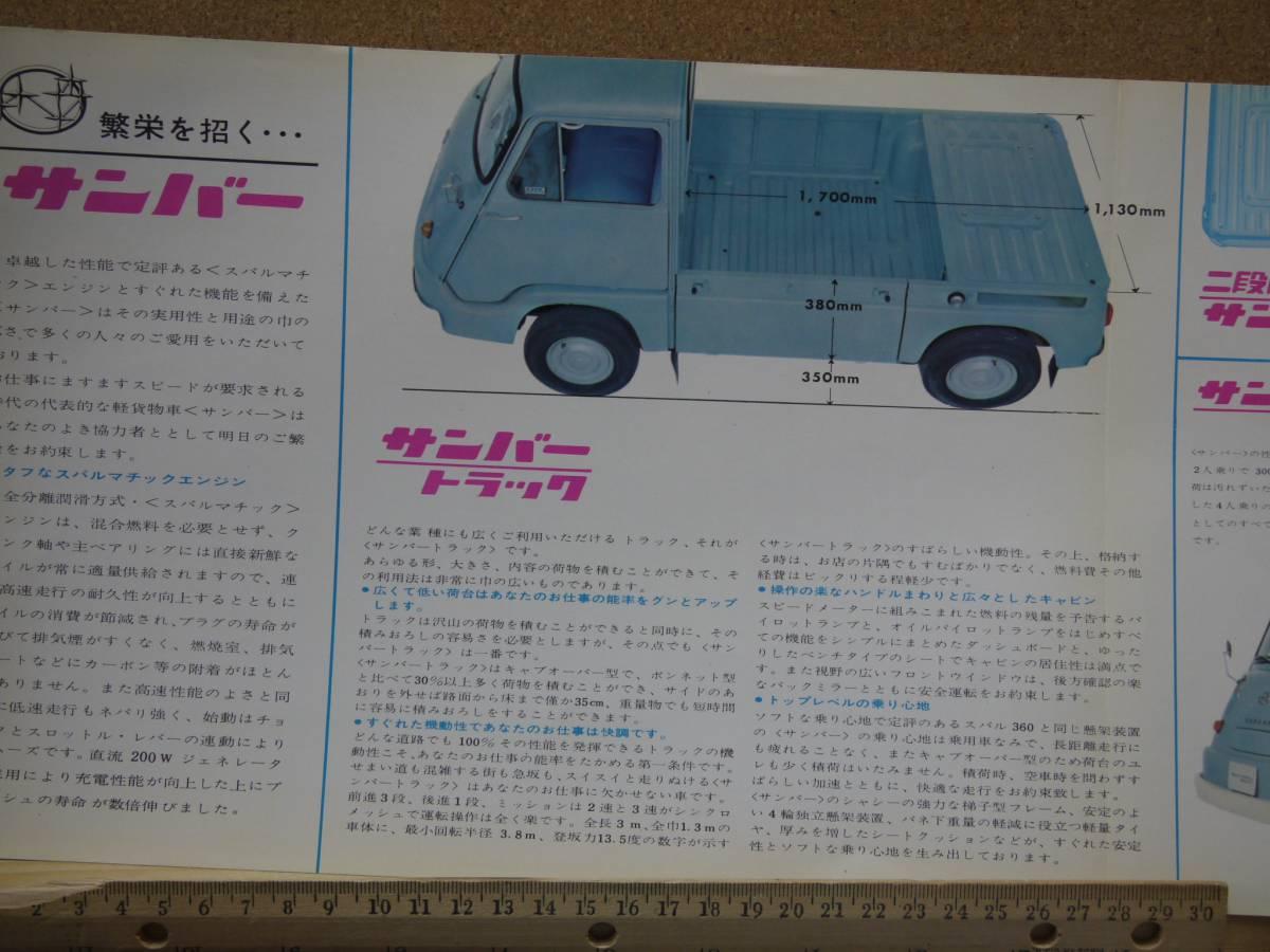 ≪旧車カタログ≫01627 スバル サンバー 新幹線砂利道_画像2