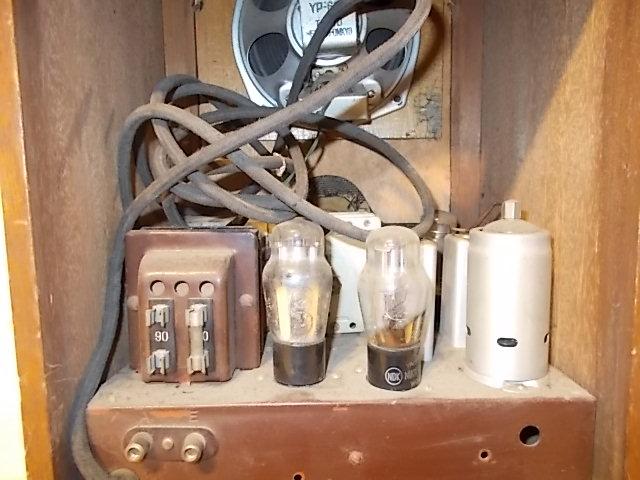 ◆古い真空管式ラジオ◆中央電気特選ナナオラ放送受信機150型◆◆アンティーク_画像9
