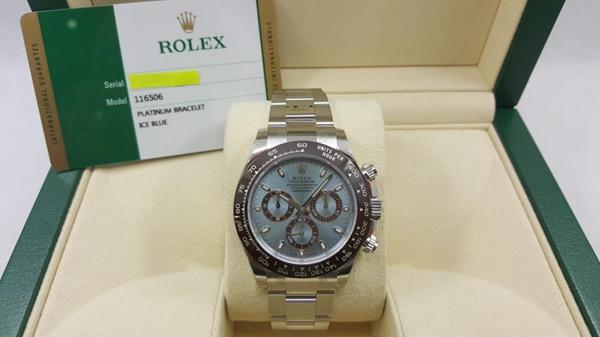 ROLEX ロレックス デイトナ Ref.116506 ランダム Pt950 アイスブルー 箱、保証書付 USED