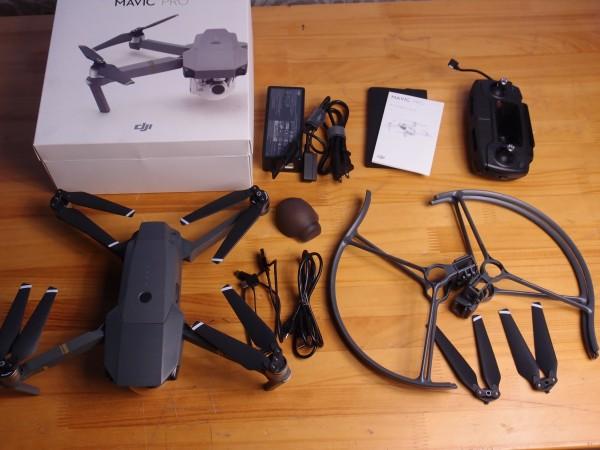 DJI MAVIC PRO プロペラガードおまけ付き コンパクト734g 折りたたみドローン 4K撮影 3軸ジンバル付きカメラ搭載 空撮 GPS搭載 送料無料