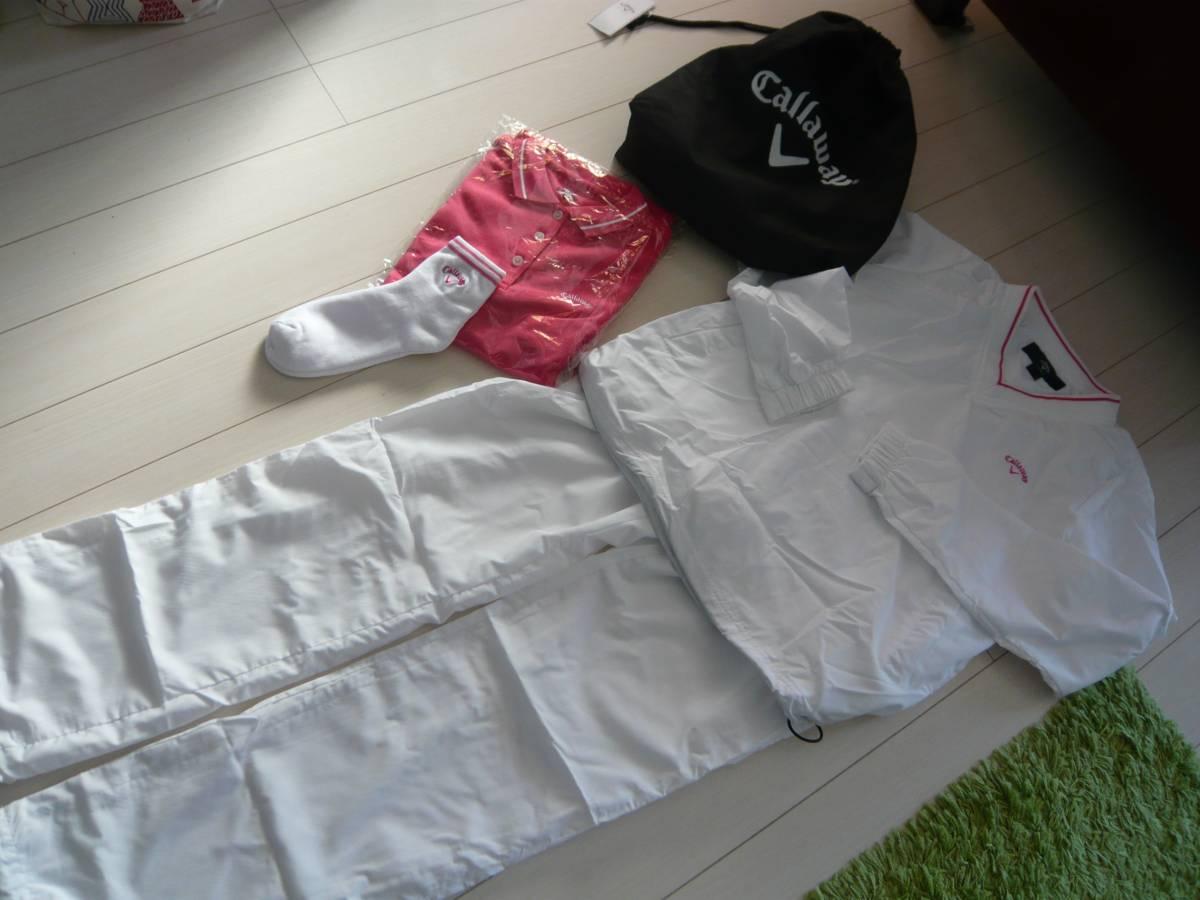 新品 キャロウェイ 福袋 callaway レディースゴルフ L 白×ピンク