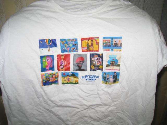 中古 Tシャツ☆『BEAT TAKESHI KITANO 絵書き小僧展』2012年/ビートたけし 北野武