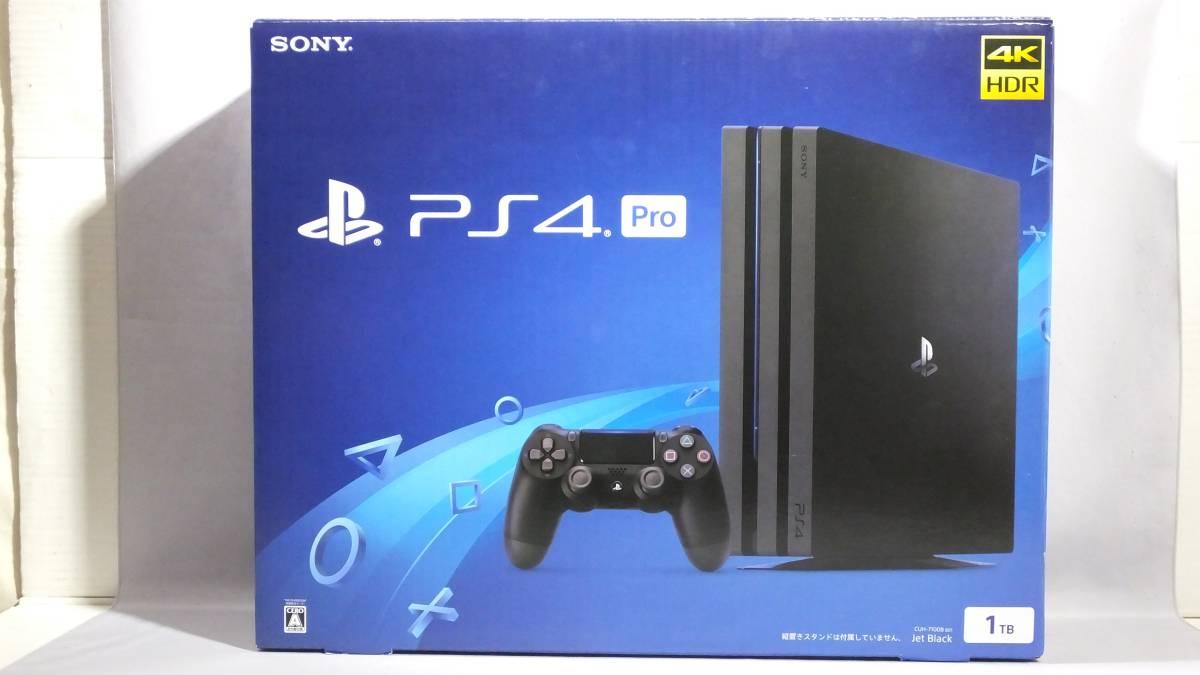 I030)PS4 Pro プレイステーション4 Pro本体 CUH-7100BB01 ジェット・ブラック 1TB 未使用