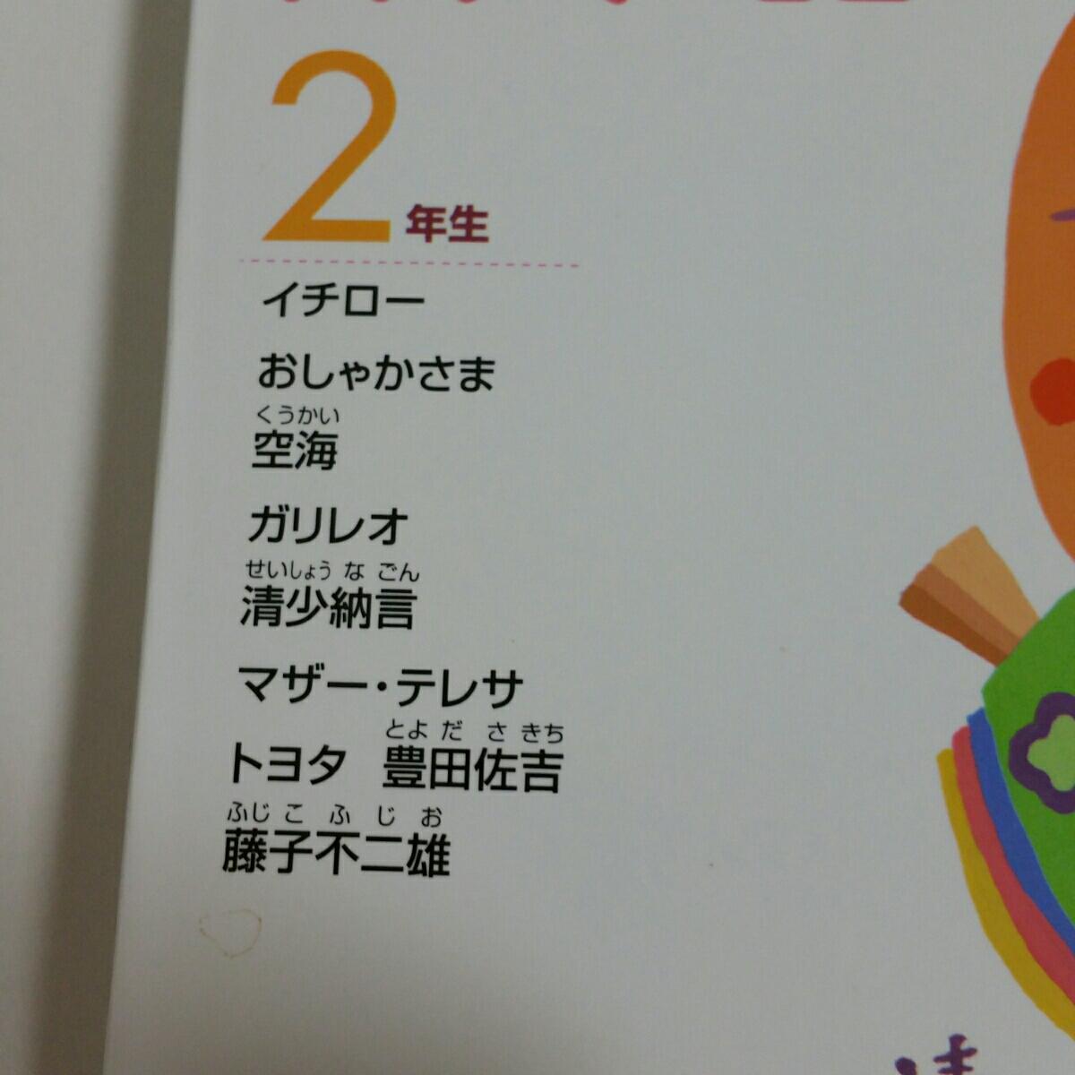小学2年生親子で読む偉人の話、イチロー、空海、トヨタ豊田佐吉、藤子不二雄など_画像2