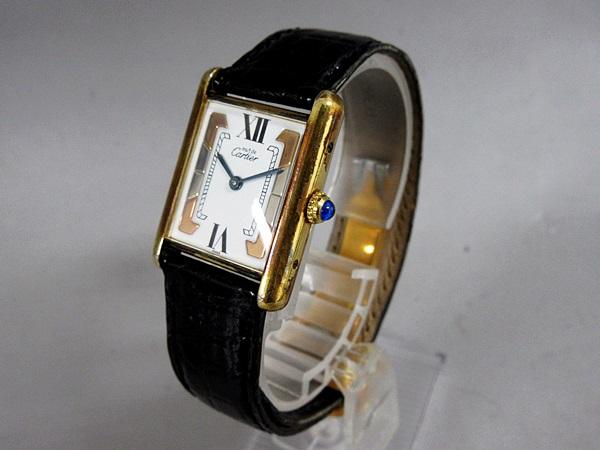 16/52-11 カルティエ Cartier シルバー 925 MUST TANK VERMEIL マストタンク ヴェルメイユ 腕時計 レディース クォーツ_画像2