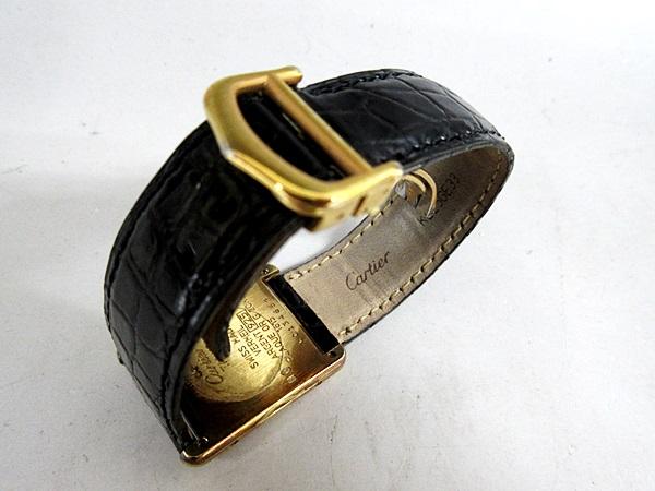 16/52-11 カルティエ Cartier シルバー 925 MUST TANK VERMEIL マストタンク ヴェルメイユ 腕時計 レディース クォーツ_画像7