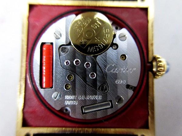 16/52-11 カルティエ Cartier シルバー 925 MUST TANK VERMEIL マストタンク ヴェルメイユ 腕時計 レディース クォーツ_画像4