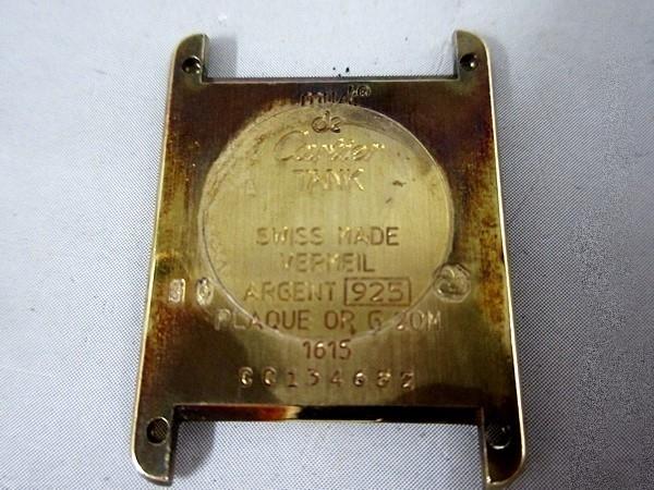 16/52-11 カルティエ Cartier シルバー 925 MUST TANK VERMEIL マストタンク ヴェルメイユ 腕時計 レディース クォーツ_画像5