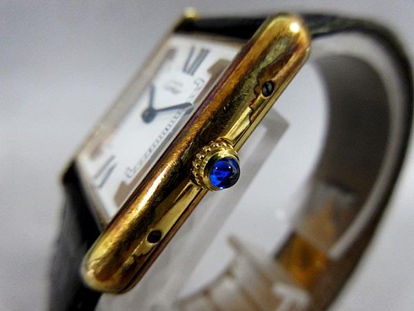 16/52-11 カルティエ Cartier シルバー 925 MUST TANK VERMEIL マストタンク ヴェルメイユ 腕時計 レディース クォーツ_画像3