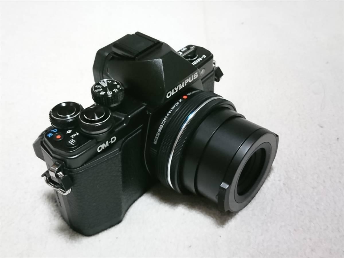 ★☆OLYMPUS オリンパス OM-D E-M10 Mark II 14-42mm EZレンズキット 自動開閉レンズキャップ付 美品!送料込!☆★_画像2