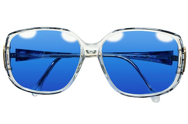 英国老舗解釈OLD SCHOOL 1970s-1980sENGLAND製オリバーゴールドスミスOLIVER GOLDSMITH日本製インディゴBLUEレンズ入サングラス眼鏡A4412_画像2