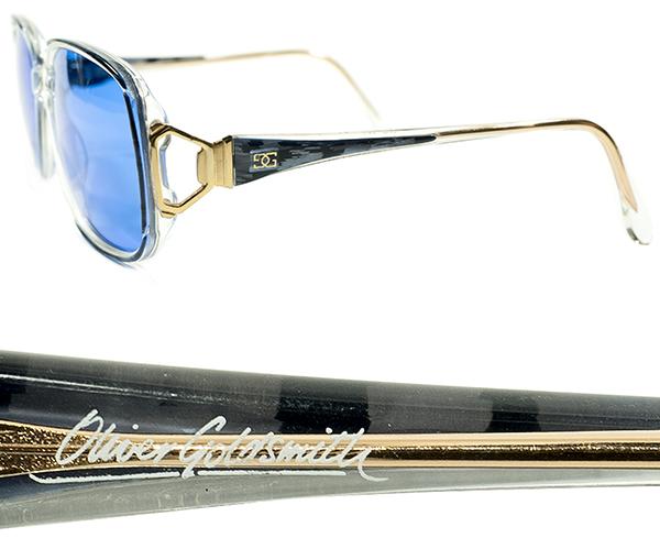 英国老舗解釈OLD SCHOOL 1970s-1980sENGLAND製オリバーゴールドスミスOLIVER GOLDSMITH日本製インディゴBLUEレンズ入サングラス眼鏡A4412_画像3