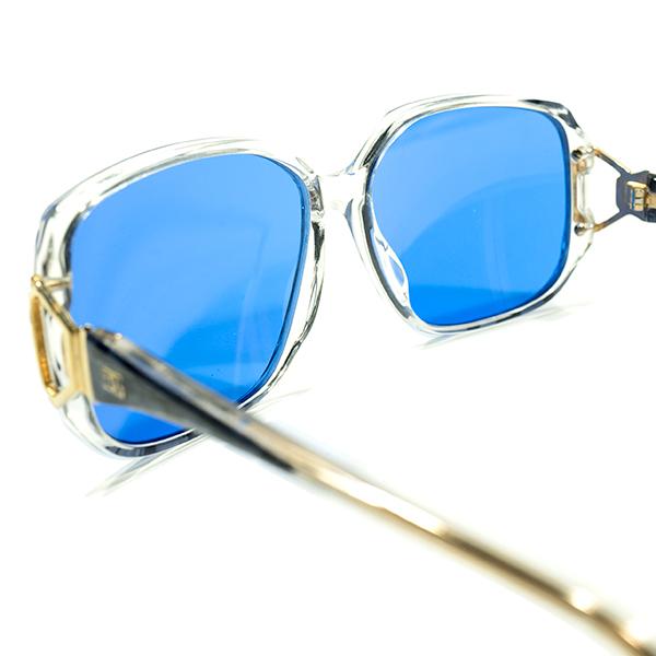 英国老舗解釈OLD SCHOOL 1970s-1980sENGLAND製オリバーゴールドスミスOLIVER GOLDSMITH日本製インディゴBLUEレンズ入サングラス眼鏡A4412_画像4