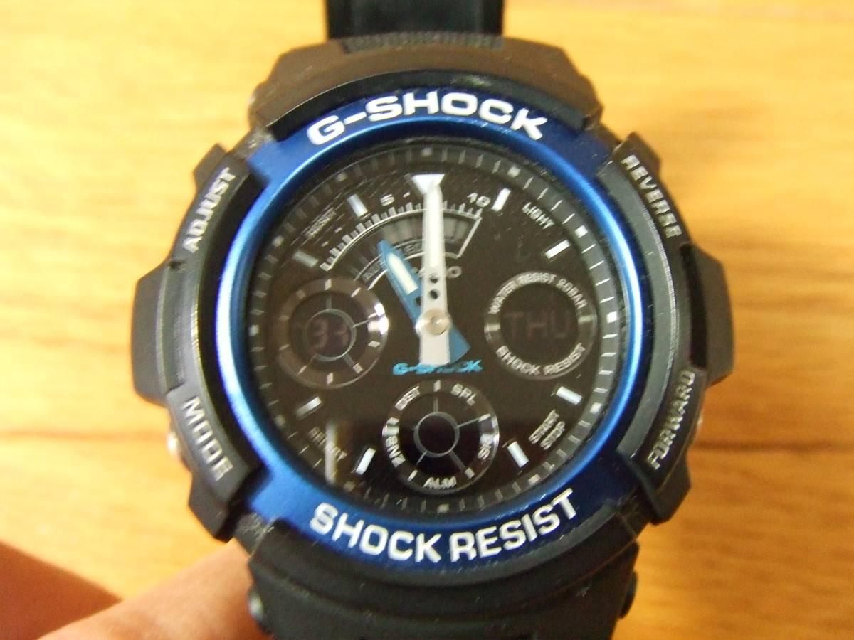 G-SHOCK/Gショック BASICモデル/デジアナ クォーツ AW-591 送料290円~ 黒 青