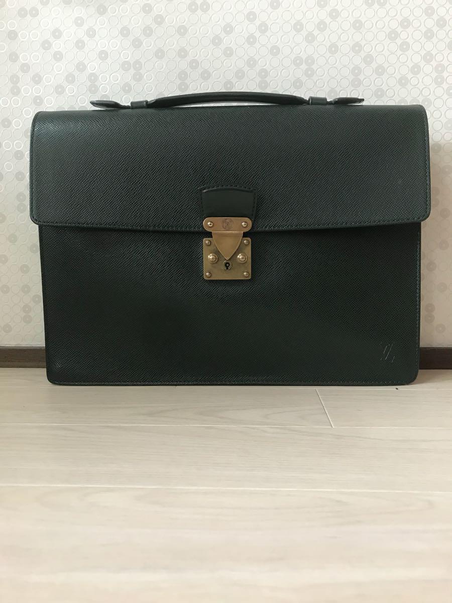 1円 送料無料 Louis Vuitton タイガ セルヴィエット・クラド アタッシュケース 美品