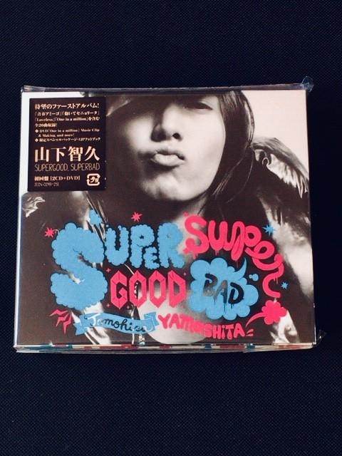 【新品】 山下智久 1st アルバム SUPERGOOD, SUPERBAD 初回盤 2CD+DVD 修二と彰 亀と山P