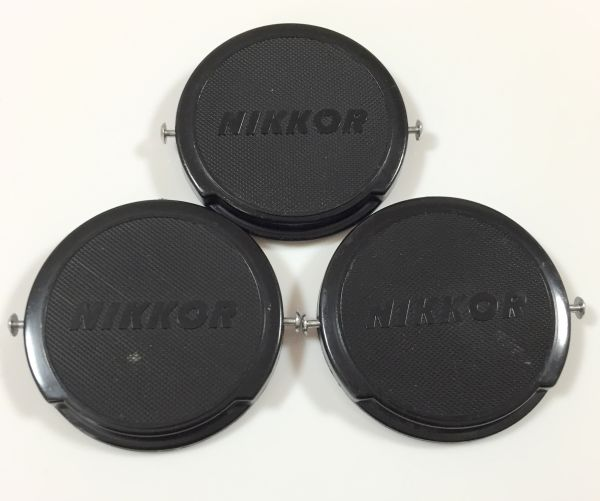 [C29] Nikon ニコン NIKKOR 52mm レンズキャップ 3個