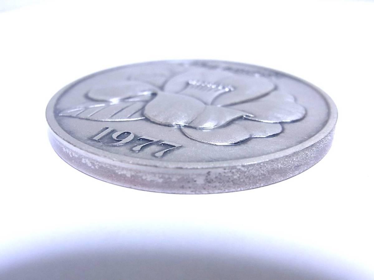 《記念品》純銀メダル 「1977年 資生堂販売会社制度創設50周年記念」 シルバー・SV1000 ホールマーク付_画像4