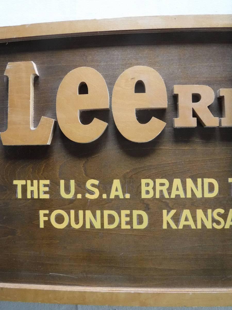 ◆激レア リー 木製看板 ディスプレイ Lee 販促用店舗什器 横幅90cm×高さ33.5cm×厚み1.8cm(素人採寸) 非売品_画像4