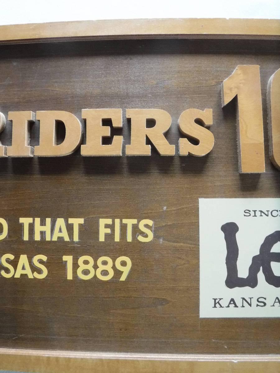 ◆激レア リー 木製看板 ディスプレイ Lee 販促用店舗什器 横幅90cm×高さ33.5cm×厚み1.8cm(素人採寸) 非売品_画像5