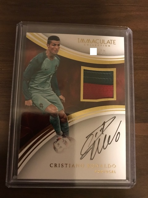 2017 Panini Immaculate Cristiano Ronaldo 直筆サインジャージー /20